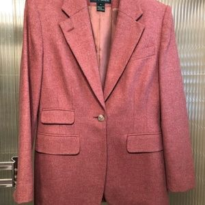 Vintage Ralph Lauren Blush Rose Wool Blazer